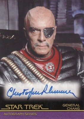 Star Trek Movies in Motion Christopher Plummer as General Chang A57 Auto Card