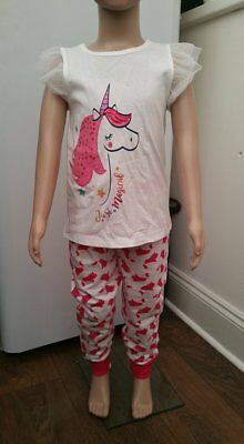 Primark Girls Unicorn Pjs Pyjamas Nightwear Bnwt All Ages Summer