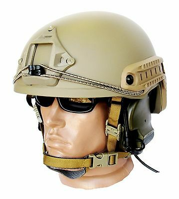 Ballistic IIIA Bullet Proof Helmet High Cut Coyote Brown (without cover)