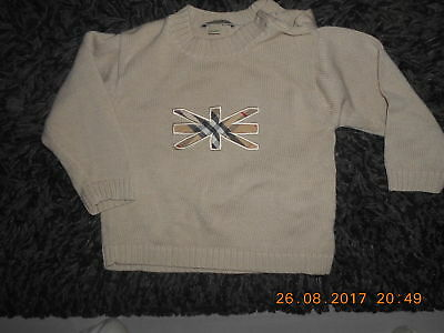 pull garcon burberry taille 18 mois soit 86 cm tbe