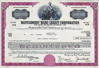 Montgomery Ward Credit Corporation, WARDS. 1975 ,  9,60 % Debenture (100.000 $)