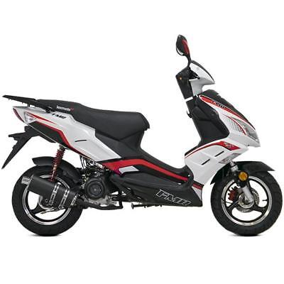 Lexmoto FMR 125cc Euro 4 4-stroke Scooter commuter  Red & White £1449 IN STOCK
