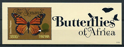Tanzania 2011 MNH Butterflies of Africa Monarch Butterfly 1v S/S II Stamps