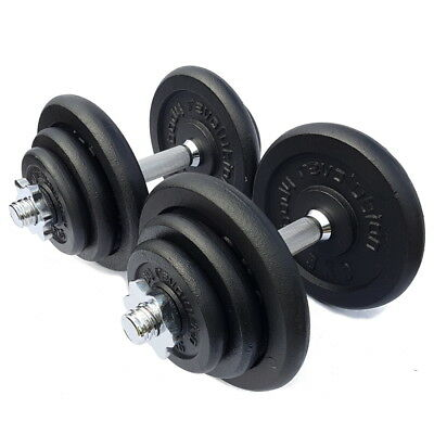 "Cast Iron Dumbbell Weights Set 1"" 25mm Standard Weight Training Barbell Home Gym"