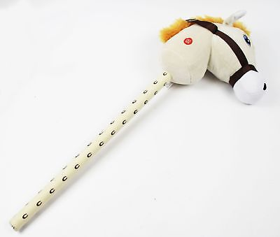 White Hobby Horse On Stick Galloping Neighing Sound Effects Play Pony Kids Toys