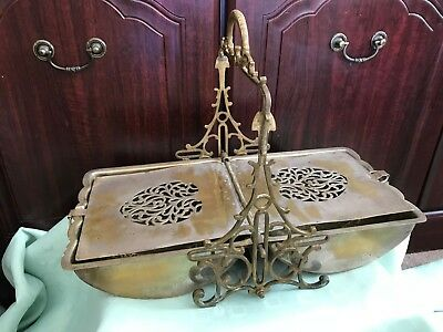A Victorian Silver Plated Table Crumpet Biscuit Warmer Ornate Grills Hot Water