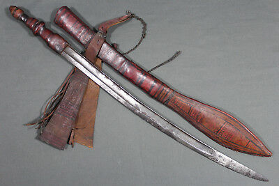 Antique Mandingo sword with a French chassepot baynt blade - 2nd half 19th