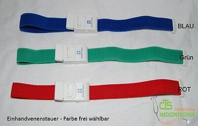 10 x stauband Tourniquet Single Hand Blue Green Red stauschlauch Teeth