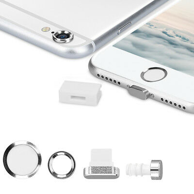 Smartphone Dust Protective Set Für Apple Iphone 6 6S Film Foil Home Button Dock