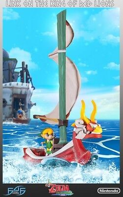 Legend of Zelda The Wind Waker Link on King of Red Lions Statue First 4 Figures