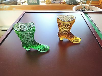 VTG Mosser Glass High Top Boot-pair-Green, Amber