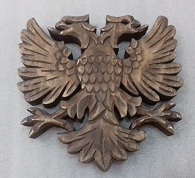 Vintage New Wood Carving Handcrafted Albanian,kosova Eagle-Hanging-Cute-Rare