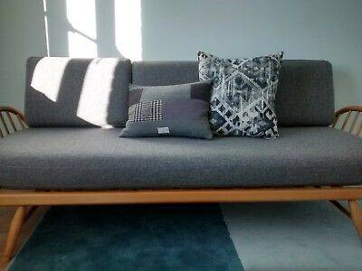 CUSHION SET for BEAUTIFUL ERCOL DAY BED/SOFA STUDIO COUCH in Grey wool