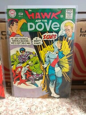 The Hawk and the Dove #1 AND # 2 LOT OF 2 (Aug-Sep 1968, DC) FIRST TWO ISSUES