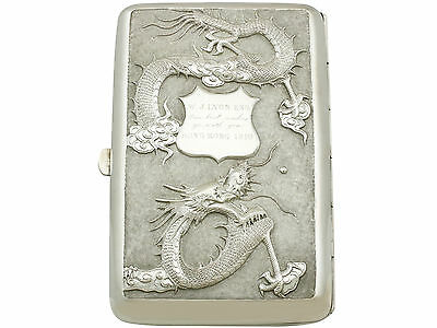 Chinese Export Silver Cigarette Case - Antique 1910