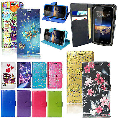 For Alcatel A3 XL 9008X 5046Y Genuine Black PU Leather Wallet Phone Case Cover