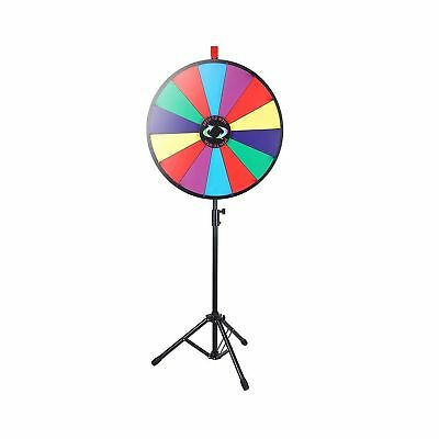 """WinSpin 24"""" Color Prize Wheel Fortune w Folding Tripod Floor Stand Carnival S..."""