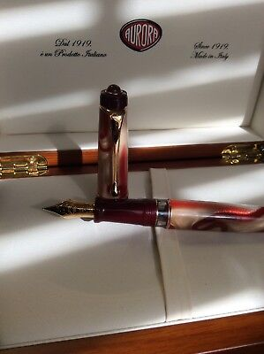 Aurora Oceania Fountain Pen 18k gold F tip. Brand new with all boxes and papers