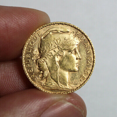 20 francs or Coq 1907 20 french franc Rooster gold coin France