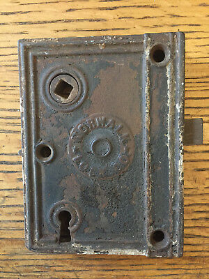 Antique Norwalk Lock Co. box lock/rim lock