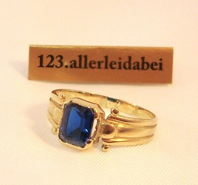 Toller blauer Spinell Ring 585 er Gold Spinell / AS 932