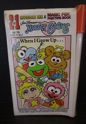 Magic Pen Book Muppet Babies dated 1993 sealed Jim Henson invisible ink 2 in 1