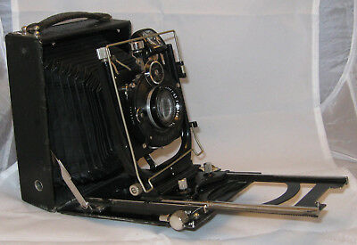 ICA Ideal 225 lastra 9x12 con Carl Zeiss Tessar 135mm f/4,5