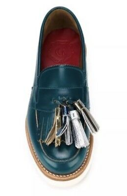 2960119b802 GRENSON CLARA LOAFERS Shoes Teal Leather Tassels EUC -  165.00 ...