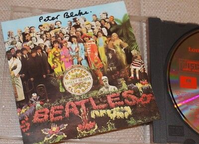 The Beatles Sgt.pepper Cd Signed By Artist Peter Blake. Rare.