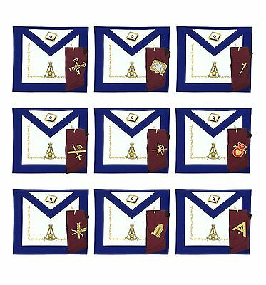 Masonic Regalia14th Degree Officers Apron and Collar Set