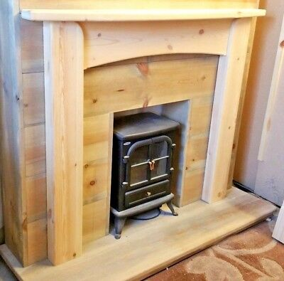 LARGER ART DECO ARTS N CRAFTS TYPE MANTLE/SURROUND FIREPLACE free postage