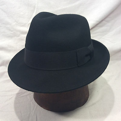 e111795a2b9 BLACK WESTERN EXPRESS Vintage Hat with Gold Band -- Size 7 1 8 ...
