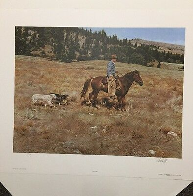 """Paul Calle """"Almost Home"""" Contemporary Cowboy 1981 Signed Edition 950"""