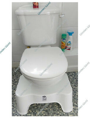 Toilet Squatty Step Stool Piles Relief Bathroom Potty Squat Aid For Constipation