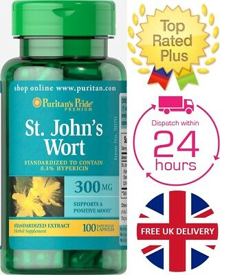 Puritan's Pride St. John's Wort Standardized Extract 300 mg x 100 Capsules