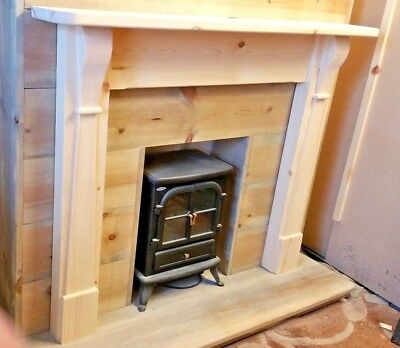 Art Deco / Arts N Crafts Fire Surround Fireplace Design  Free P&P