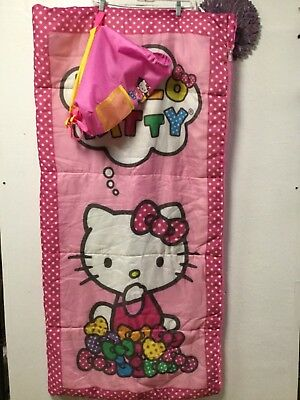 99d04c8ba Hello Kitty sleeping bag or nap mat 56 X 28 zipped closed carry bag backpack  168