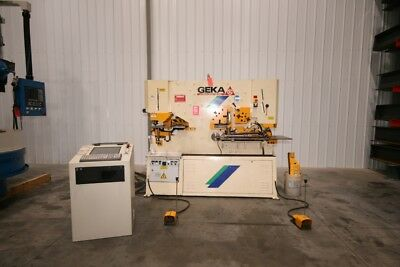 12989 Geka Hydracrop 110/SD Ironworker with CNC Positioner, 2008