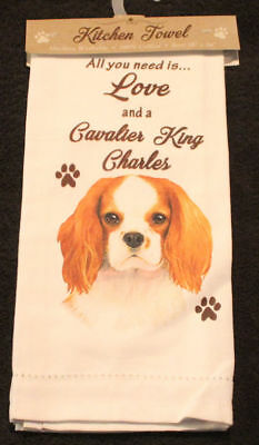 Cavalier King Charles Spaniel Dog Breed Cotton Kitchen Dish Towel