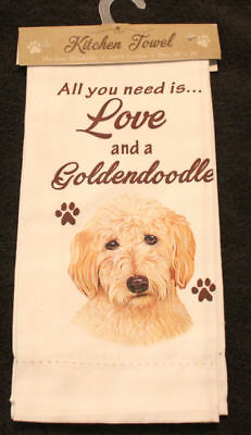 Goldendoodle Dog Breed Cotton Kitchen Dish Towel