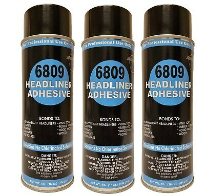 Package of 3 V&S #6809 Headliner Spray Adhesive