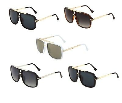 add945934ca Evidence Hip Hop Rapper Aviator Sunglasses Retro Classic Gold Metal Flat Top