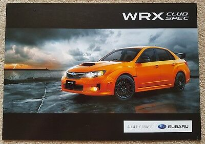 New condition Subaru WRX 01 Impreza club spec edition double sided leaflet