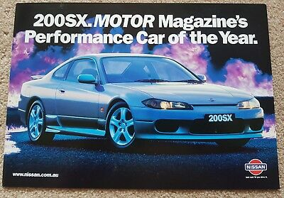 Brand new!!!  Nissan 200SX double sided leaflet/ brochure