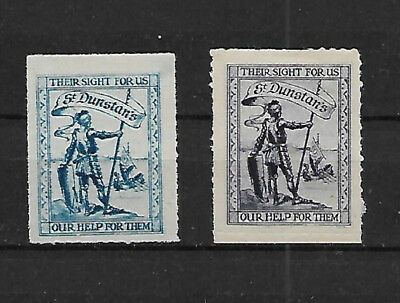 "Two ""st Dunstans"" Home For The Blind Poster Stamps"