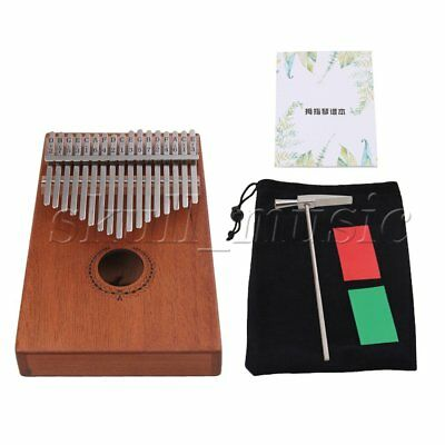 Brown 185x133x48mm 17 Keys Thumb Piano Solid Finger Piano for Beginners