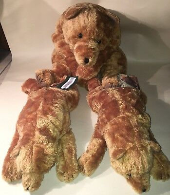 """DITZ Designs BEAR HUGS Lot Of 3 Plush Stuffed Animal 24"""" & Two 16"""" NEW WITH TAGS"""