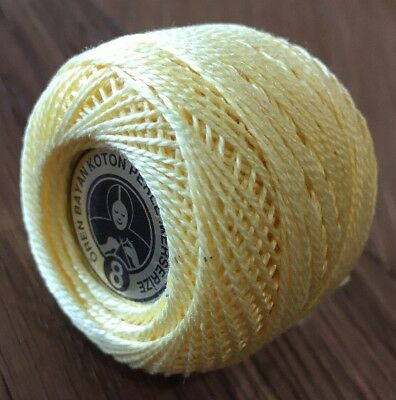 Oren Bryan Cotton Perle 8 #610 Lemon Crochet Cotton