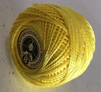 Oren Bryan Cotton Perle 8 #611 Yellow Crochet Cotton
