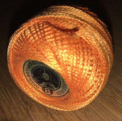 Oren Bryan Cotton Perle 8 #132 Orange Crochet Cotton